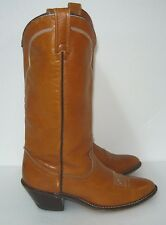 Acme Women's Burgundy Leather Western Boots Style 18049 Size 8C