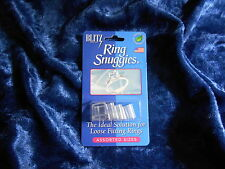 BLITZ Ring Snuggies 6 Assorted Clear Adjusters NONTOXIC Rubber/Silicone USA