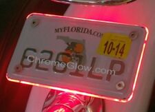Red LED Motorcycle License Plate Halo