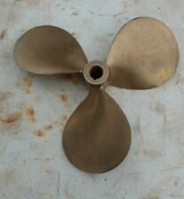 """Large Solid Brass Boat Propeller - 17"""" -12 90 - 17x17"""