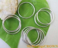 40pcs Tibetan Silver circle connectors 35mm FC8184