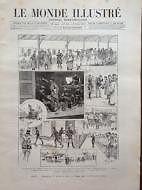 LE MONDE ILLUSTRE 1892 N 1815 ARMEE: MOBOLISATION DU SERVICE DE SANTE