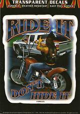 Biker moto chopper Ride it decal Pegatina Sticker