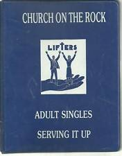 *ST PETERS MO 1988 *SERVING IT UP COOK BOOK *CHURCH ON THE ROCK *LOCAL ADS *RARE