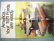 1971 FORD BROCHURE FOLDOUT – AMERICA YOUR 1971 FORDS ARE READY PINTOS, MAVERICKS