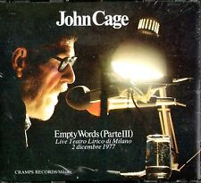 JOHN CAGE     live milano 1977  BOX 2 CD ORIG !    sealed   italian  prog psych