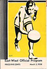 1938 EAST WEST OFFICIAL PROGRAM 1938 SAN LEANDRO FREMONT OAKLAND McCLYMONDS CA >