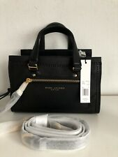 $375 NWT Authentic Marc Jacobs Mini Cruiser Pebbled Leather Satchel Tote Black