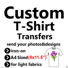 Custom A4 Sized T-Shirt Iron On Transfers Your photo/image/design Hen Stag a5