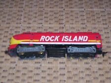 HO Scale Rock Island Shark Nose Locomotive, Rock Island Caboose and 3 Other Cars
