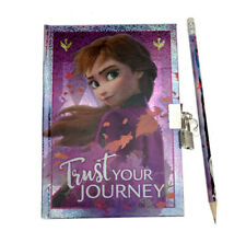 Disney Frozen 2 - Anna Secret Diary With Padlock and Pencil Notebook Notepad