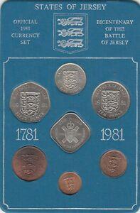 Coffret monnaie Ile de Jersey Bicentenaire 1781-1981