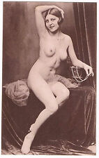 Carte Photo Nu Originale Splendide Jeune Femme Nue