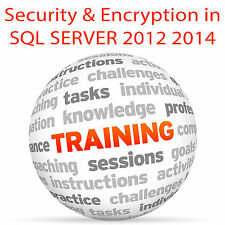 Security and Encryption in SQL SERVER 2012 & 2014 - Video Training Tutorial DVD