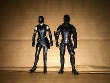 TRON LEGACY:  BLACK GUARD + Quorra - Action Figures Disney 2010