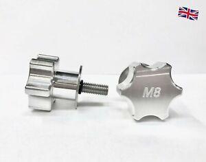 M8 Thread Star Knob Fixture for FESTOOL Table, Dog Pins, Vice Plate Unit - Pair