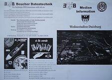 Medien Info Pokal 1997/98 MSV Duisburg - Eintracht Frankfurt