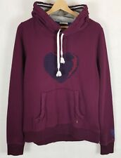 TOMMY HILFIGER Hoodie Womens Hooded Sweatshirt Burgundy Women's Ladies Size L