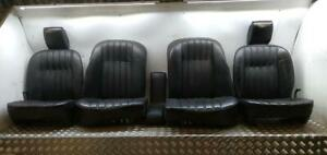 ROVER P6 FRONT AND BACK INTERIOR BLACK LEATHER SEATS