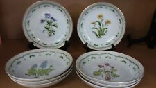 Lot of 8 Georges Briard China Victorian Garden-Multi Motif Soup Cereal Bowls