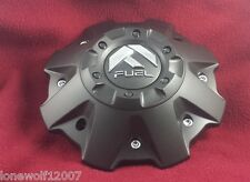 Fuel Wheels Flat Black Custom Wheel Center Cap #1001-63B W/SCREWS! ONE CAP