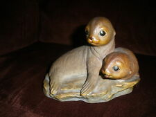 Vintage Masterpiece Porcelain Otter Figurine by Homco. MADE IN MEXICO 1981