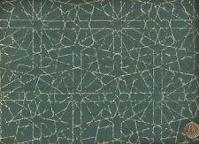 Modern Retro Kaleidoscope Ocean Artsy Geometric Blue Upholstery Fabric