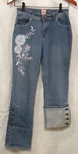 Stuff by Hillary Duff Girls 14 Denim Jeans Metal Button Up Lower Legs