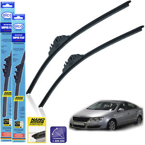 Fits VW Passat 3B6 Estate Bosch Superplus Front Windscreen Wiper Blades