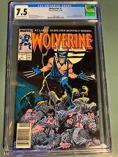 Wolverine  #1 - Newsstand - CGC 7.5  - Marvel Comics 1988