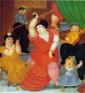 "Fernando Botero ""Flamenco"" HD Print Painting on Art Fabric Wall Decor Multisizes"
