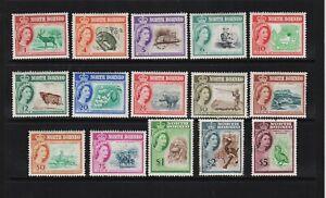 North Borneo - #280-294 mint, cat. $ 71.45