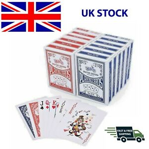 Quality Plastic Coated Playing Cards Poker Deck Various Colours Black Jack - NEW