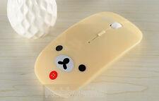 Lovely Cute Beige Rilakkuma Relax Bear Optical USB Mice 2.4GHz Wireless Mouse