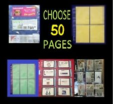 50 COUPON SLEEVES ~ BINDER HOLDER ORGANIZE YOUR QPONS! DESIGN YOUR BINDER!