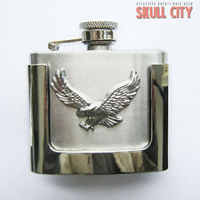 SMALL Eagle FLASK BUCKLE - Belt BUCKLE - Hip FLASK Western Eagle USA Country