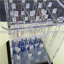 Electronics Kits 4x4x4 Blue 3D LED Cube For Arduino uno shield LED DIY + Case UK