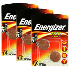 6 x Energizer Lithium CR2430 batteries 3V Coin cell DL2430 ERC2430 Pack of 2
