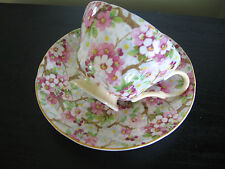 Shelley Cherry Blossom Chintz Henley Peach Trim China Cup & Saucer