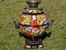 Handpainted set petrikivka samovar tray teapot cup