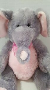 Dan Dee Collectors Choice Stuffed Animal Plush Elephant grey pink 20""
