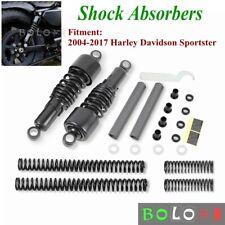 Black Shock Absorbers Lowering Kit For Harley Sportster 883 1200 2004-17 XL883N