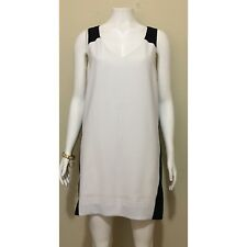 Banana Republic Sheath Dress in White/Black, Size 12P (MSRP: $100)