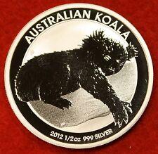 2012 AUSTRALIAN  KOALA DESIGN 1/2 oz .999% SILVER ROUND BULLION COLLECTOR COIN