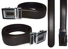 Lot of 2. Men's Belt. Brown Automatic lock belt Size 44-46 inches Dress belt BN*