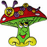Magic Mushroom Patch Embroidered Badge Embroidery Applique Iron Sew On Clothing