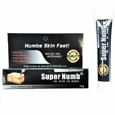 10g SUPER NUMB Numbing Cream Skin Tattooing Piercing Waxing Laser Dr