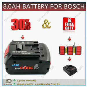 8.0 Ah For BOSCH 18V Lithium-Ion Battery ProCORE BAT619 BAT621 BAT620 1600A016GK