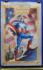 """Captain America 50th Anniversary Poster 1990 Mike Zeck Phil Zimelian 22"""" x 34"""" T"""