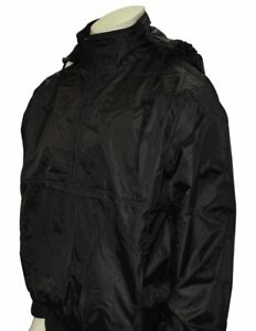 Smitty Black Water Resistant Pullover Jacket with Hood - Closeout Pricing